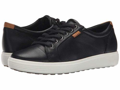 ECCO Soft 7 Sneaker black. Details at une femme d'un certain age.