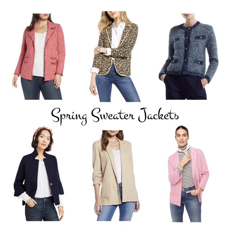 Spring sweater jackets for women. Details at une femme d'un certain age.