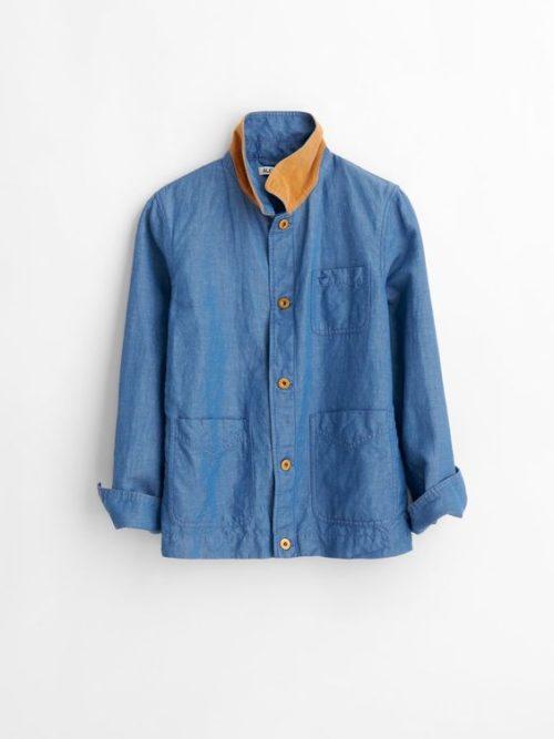 Alex Mill linen-chambray worker's jacket. Details at une femme d'un certain age.