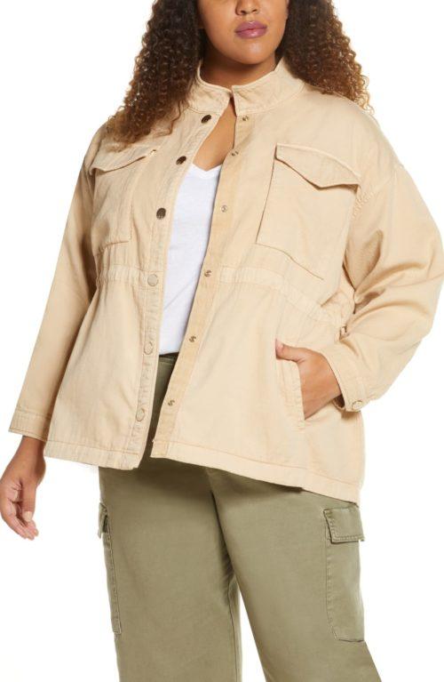 Habitual Kassidy cotton jacket in Plus. Details at une femme d'un certain age.