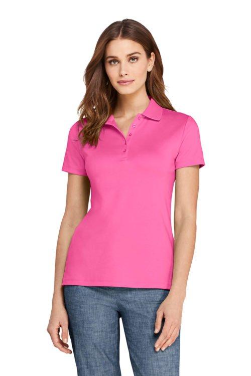 Lands' End supima cotton polo shirt. Details at une femme d'un certain age.