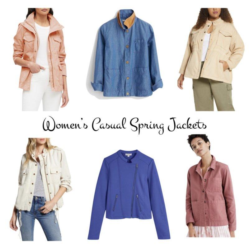 Spring casual jackets for women. Details at une femme d'un certain age.