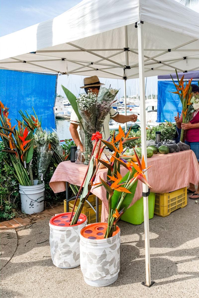 Flower seller at La Cruz de Huanacaxtle mercado, Nayarit Mexico. Details at une femme d'un certain age.