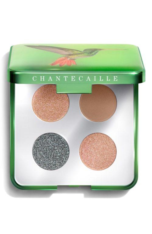 Chantecaille Hummingbirds eye shadow quartet. Details at une femme d'un certain age.
