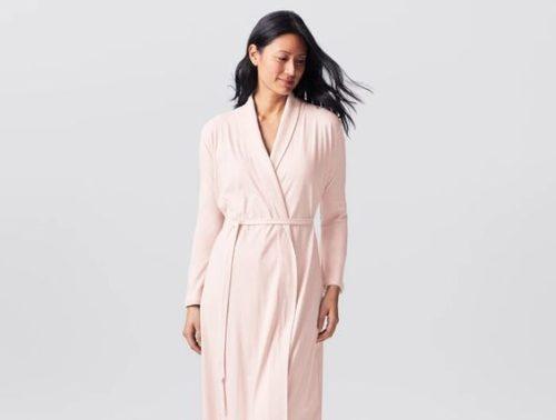 Coyuchi organic cotton knit robe. Details at une femme d'un certain age.