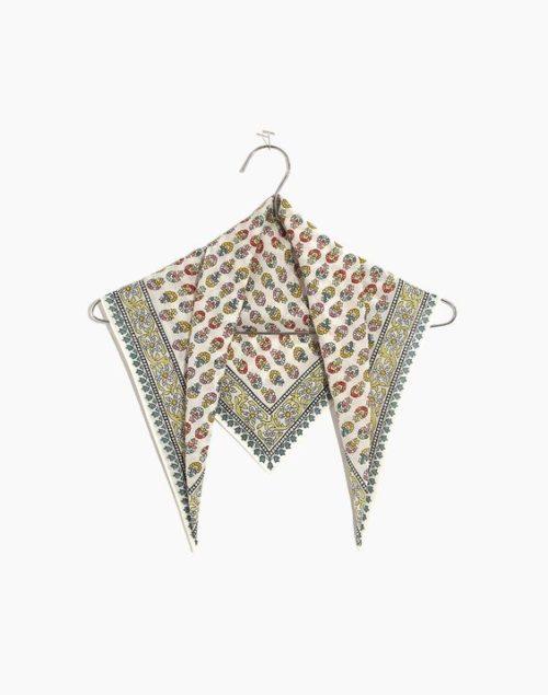 Madewell cotton print bandana. Details at une femme d'un certain age.