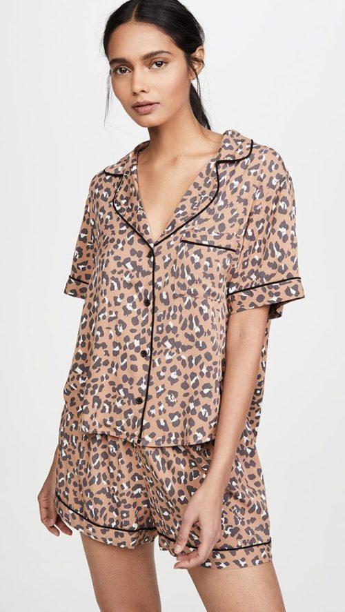 Rails leopard print pajama set. Details at une femme d'un certain age.