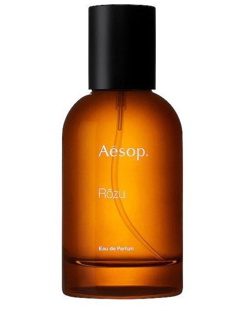 Aesop Rozu eau de parfum, a fresh natural fragrance. Details at une femme d'un certain age.