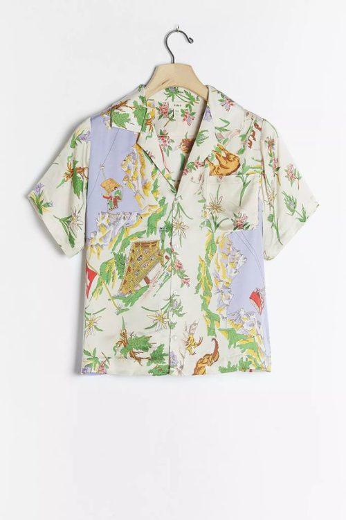 Anthropologie postcard button shirt. Details at une femme d'un certain age.