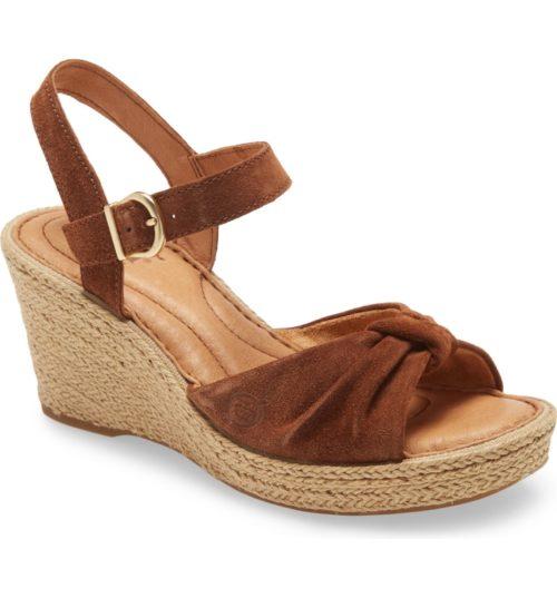 Born Ladue platform espadrille sandals. Details at une femme d'un certain age.