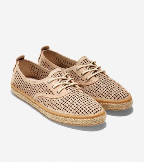 Cole Haan Cloudfeel espadrille sneakers. Details at une femme d'un certain age.