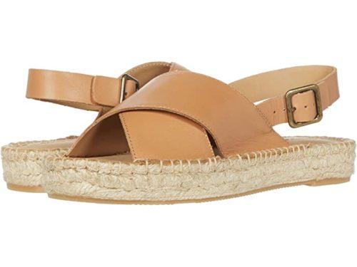 Soludos cross-strap espadrille sandals. Details at une femme d'un certain age.