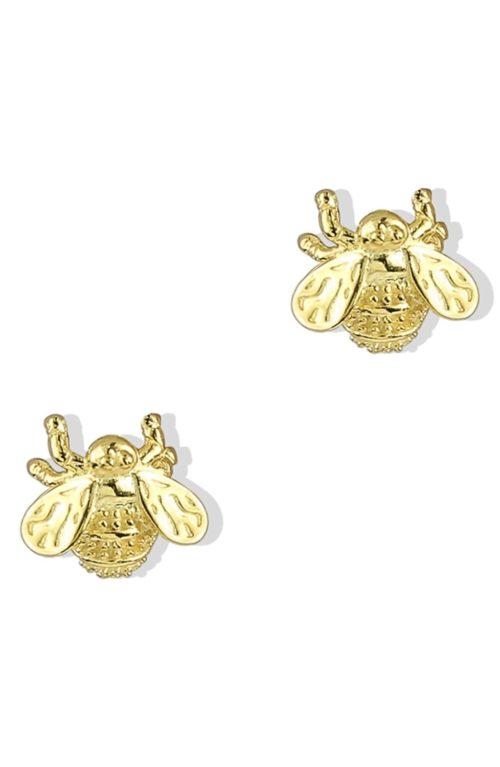 Argento Vivo bee stud earrings. Details at une femme d'un certain age