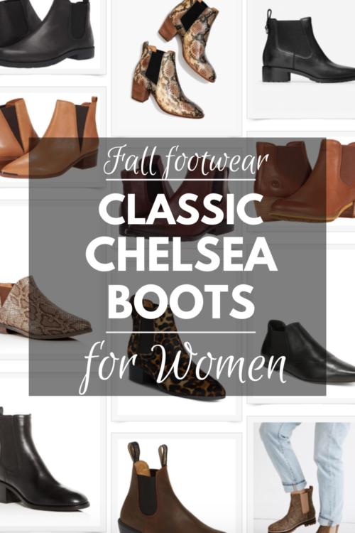 Classic Chelsea boots for women. Details at une femme d'un certain age.