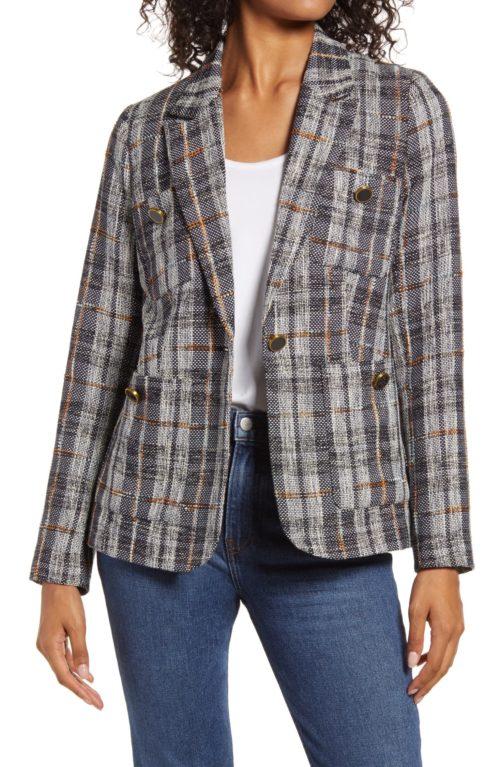Halogen tweed blazer from Nordstrom Anniversary Sale. Details at une femme d'un certain age.