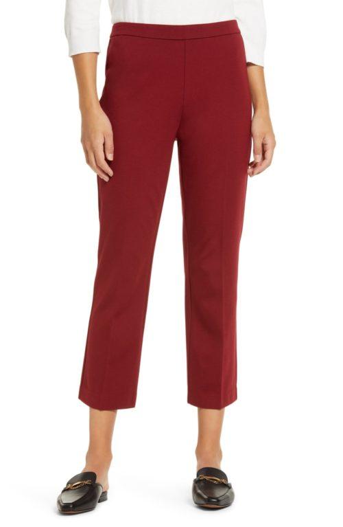 Halogen ponte knit crop pants from Nordstrom Anniversary Sale preview. Details at une femme d'un certain age.