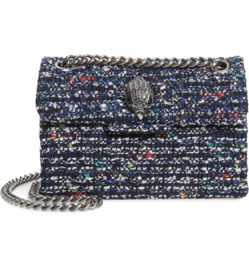 Kurt Geiger mini Kensington tweed bag from Nordstrom Anniversary Sale. Details at une femme d'un certain age.