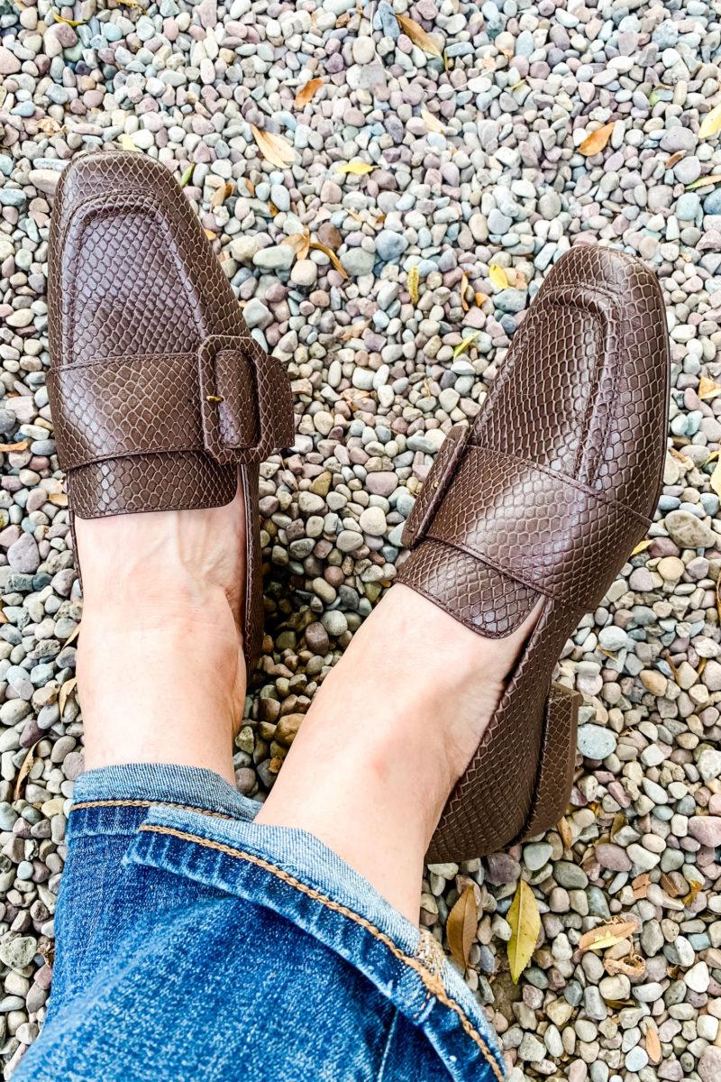 Louise et Cie buckle loafers. Details at une femme d'un certain age.