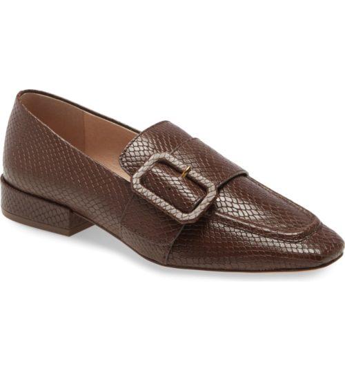 Louise et Cie buckle loafers in the Nordstrom Anniversary Sale. Details at une femme d'un certain age.