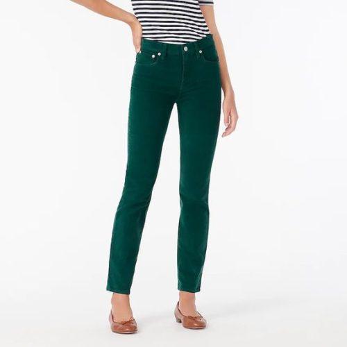 J.Crew Vintage Straight pants in Dark Spruce. Details at une femme d'un certain age.