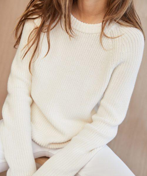 Jenni Kayne cotton fisherman sweater.