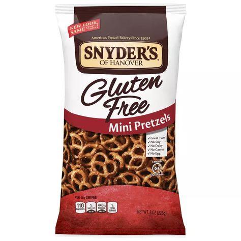 Snyder's Gluten Free mini-pretzels, a perfect salty-crunchy snack. Details at une femme d'un certain age.