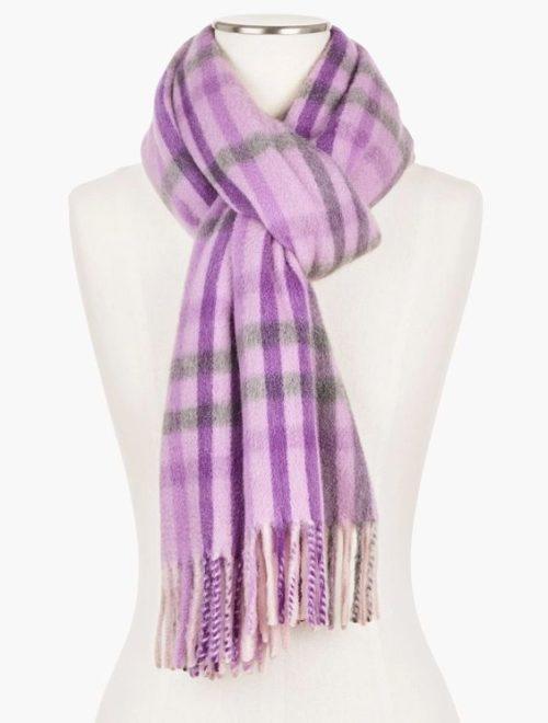 Talbot's pure cashmere wrap in Lavender. Details at une femme d'un certain age.
