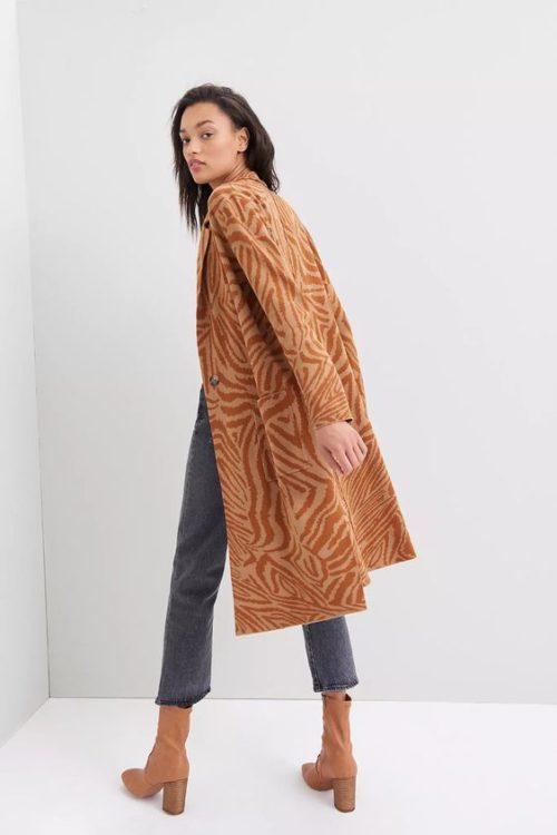 Anthropologie long cotton-blend sweater jacket. Details at une femme d'un certain age.