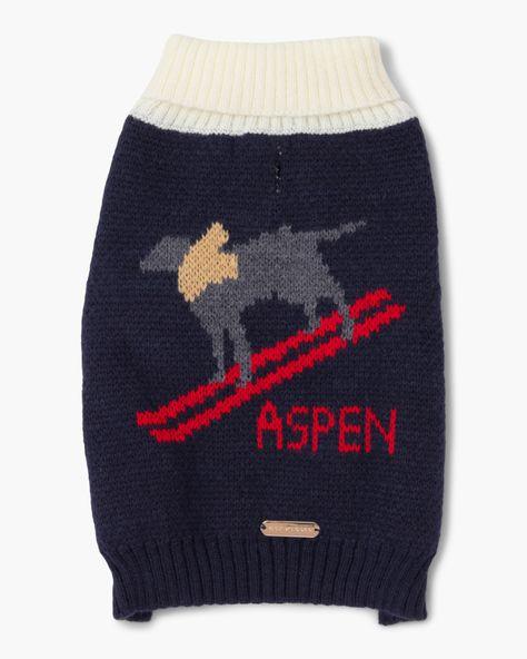 Aspen dog sweater. Details at une femme d'un certain age.