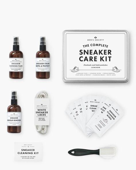 Sneaker care kit. Details at une femme d'un certain age.