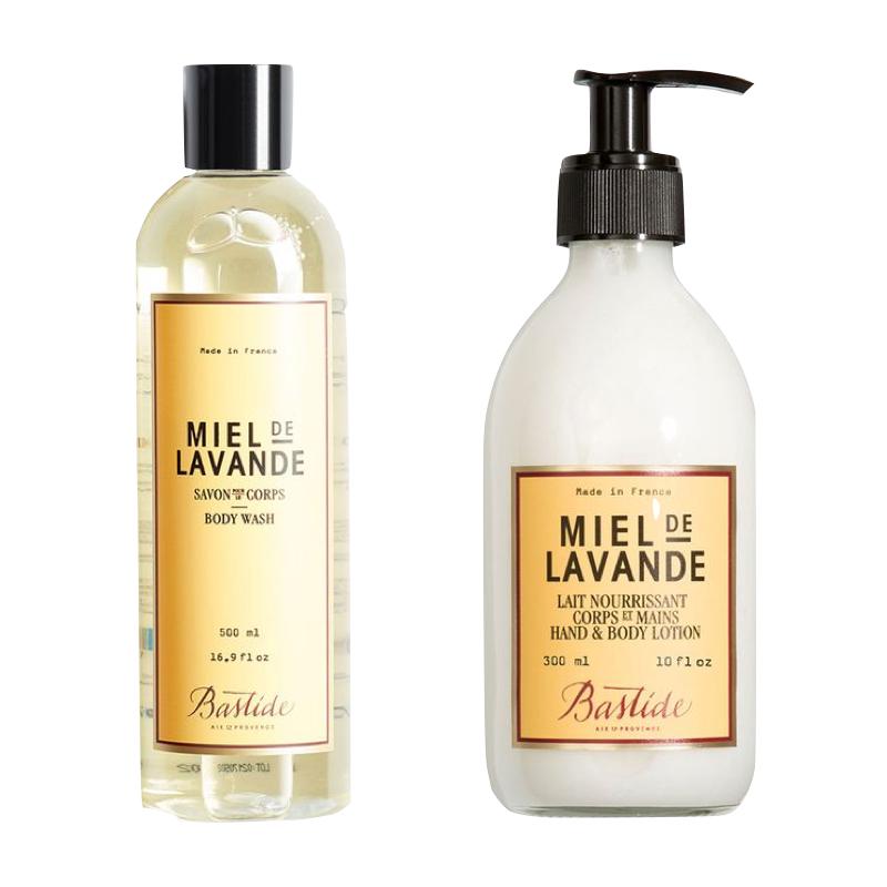 Bastide Miel de Lavande body wash and body lotion. Details and more gifts for Francophiles at une femme d'un certain age.