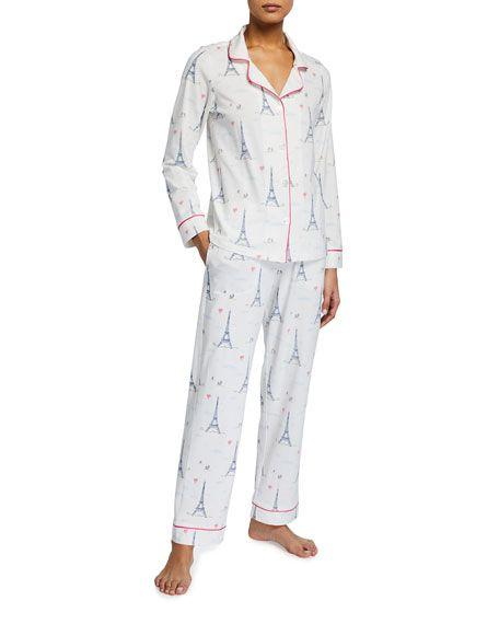 BedHead plus size pajamas in Eiffel Tower print. Details at une femme d'un certain age.