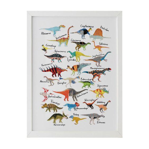 Dinosaur alphabet print. Details at une femme d'un certain age.