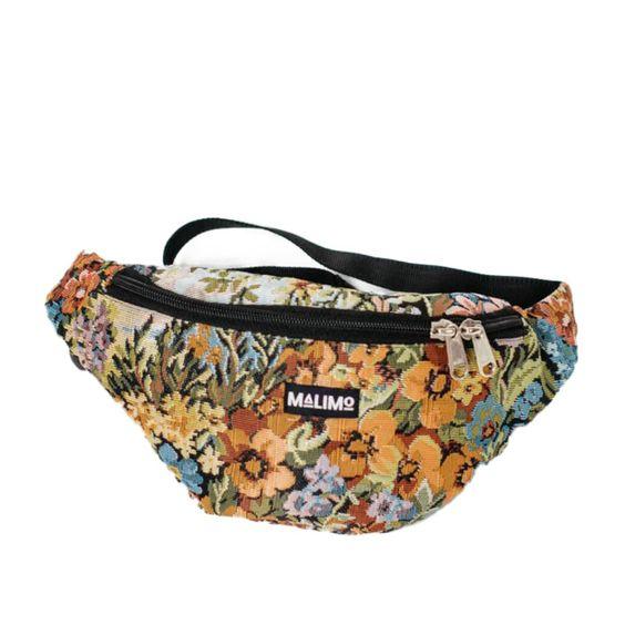 Malimo floral bum bag. Details at une femme d'un certain age.