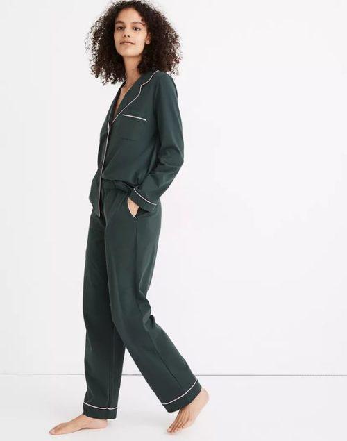 Madewell cotton knit women's pajamas. Details at une femme d'un certain age.