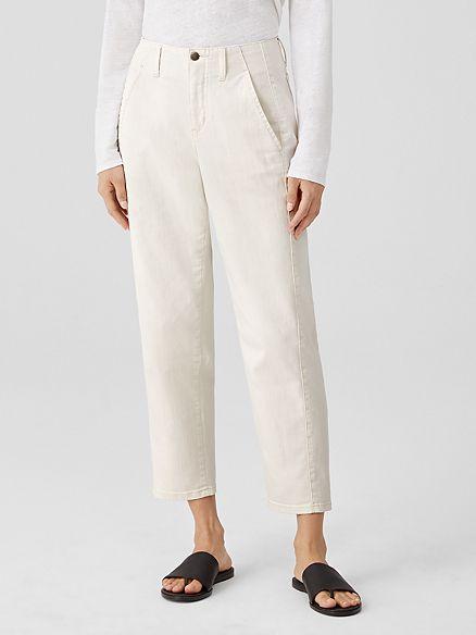 Eileen Fisher undyed stretch ankle jeans. Details at une femme d'un certain age.