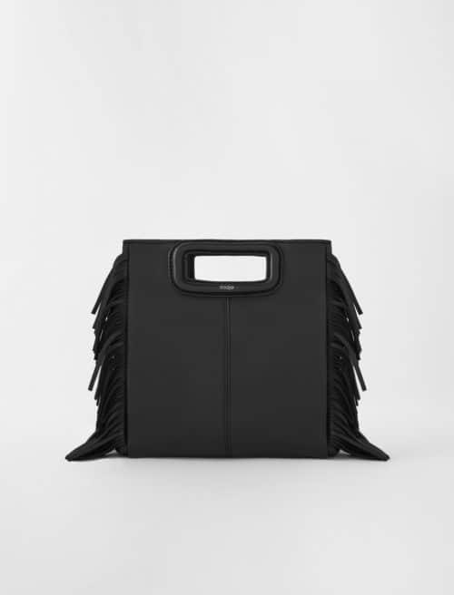 Maje M bag in black. Details at une femme d'un certain age.