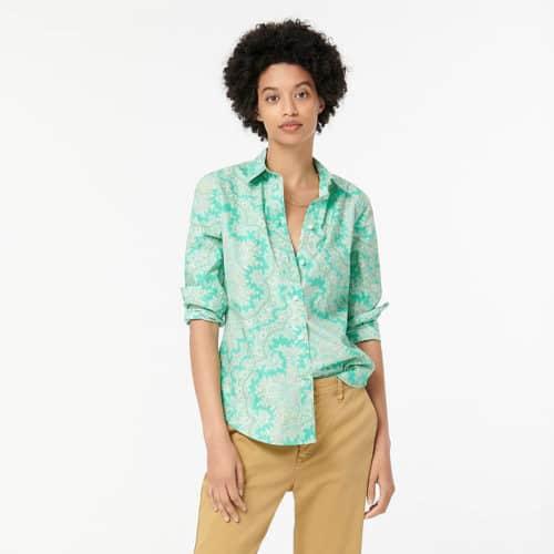 J.Crew cotton paisley print shirt.