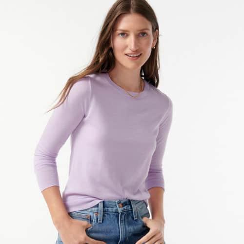 J.Crew Margot sweater marino wool in Lilac