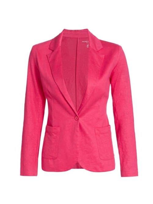 Majestic Filatures stretch linen blazer rose pink.