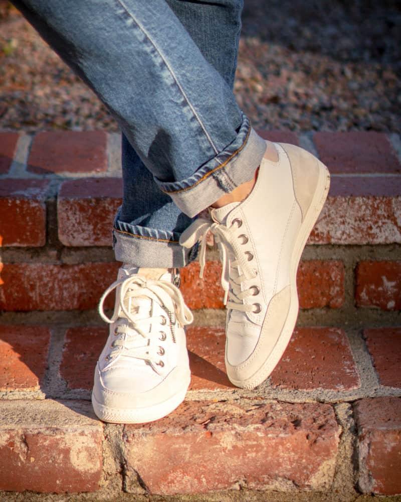 Paul Green Felicity high top sneakers with zip.