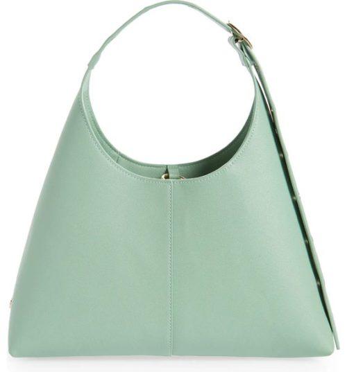 House of Want vegan leather shoulder bag sage green.
