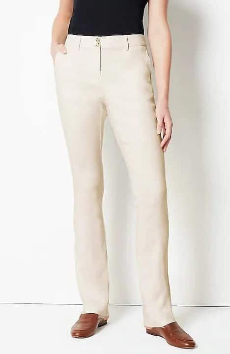 J.Jill linen full-length pants.