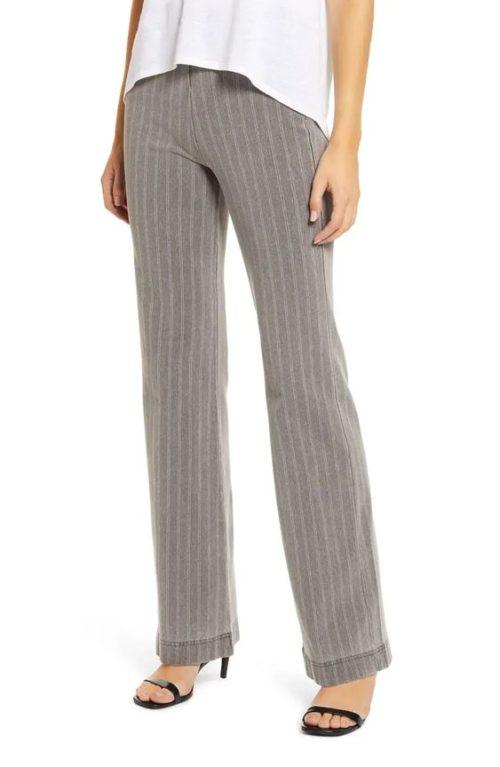 Lyssé striped denim trousers.