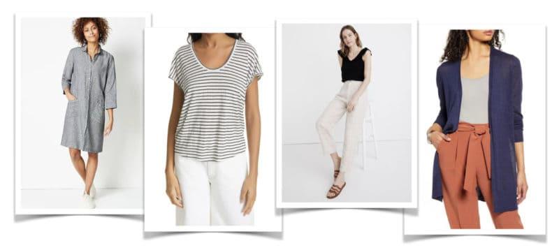 Linen clothing for women.