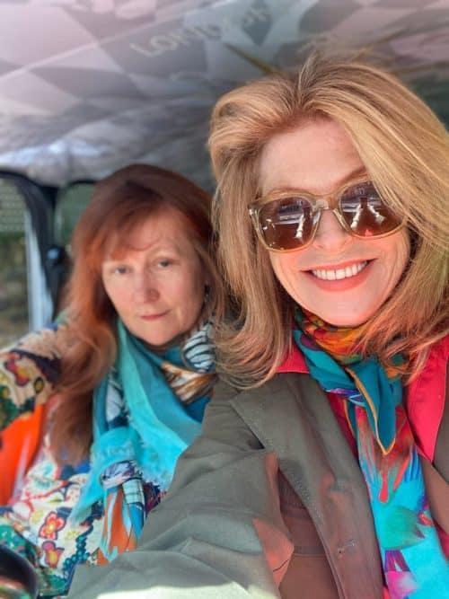 Ivana Nohel and Annie Castaño of Castanohel scarves