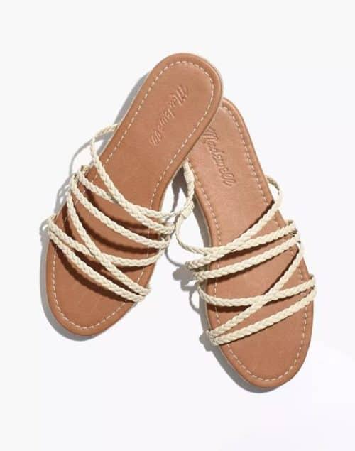 Madewell braided leather slide sandals.