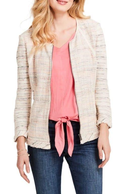 Nic + Zoe tweed jacket on sale. Details at une femme d'un certain age.