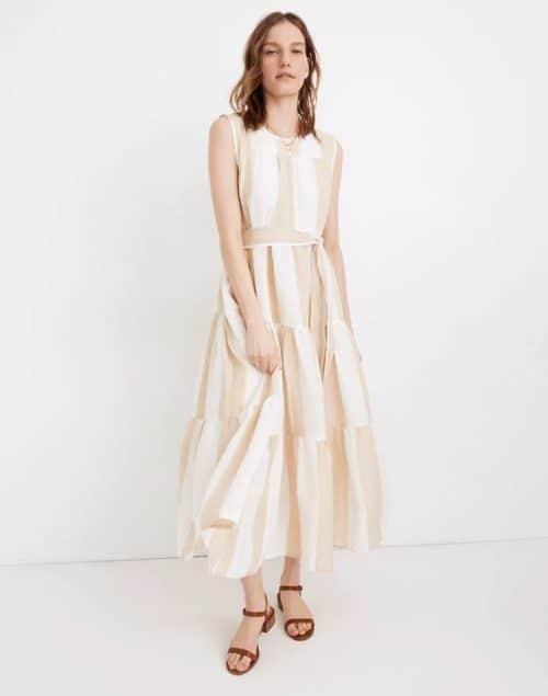 Madewell x LAUDE tiered linen dress.