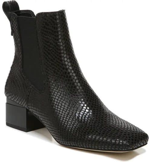Franco Sarto Waxton chelsea boot black reptile